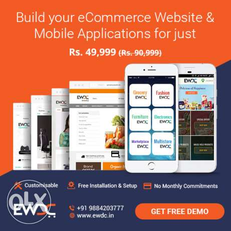 eCommerce Store and Mobile Apps for Rs.49999 Only