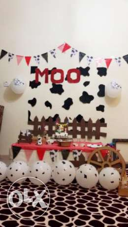 Birthday decor ( theme Moo )
