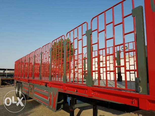 heavy duty, bogie trailers,65 ton capacity, 40 feet, with side grill