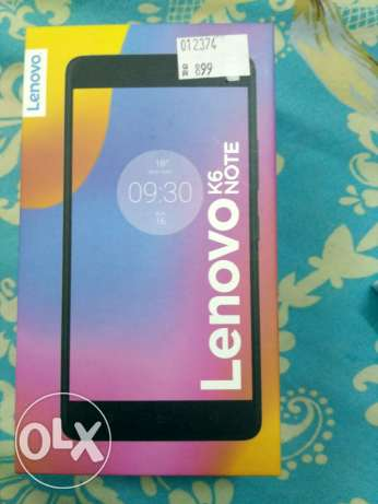 1week old New Lenovo K6 note, 16 mp camera, 3gb ram Complete box