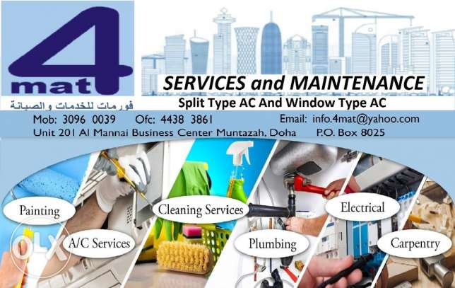 AC services, Electrical, Plumbing, Carpentry Etc.