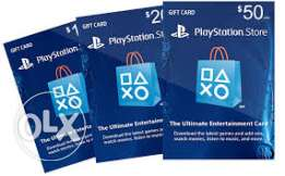 PSN Cards $ PS plus FOR SALE
