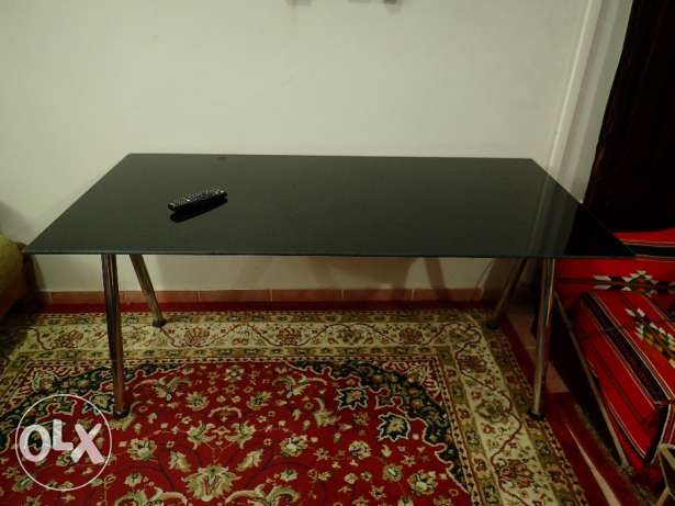 Glass top table (From Ikea0