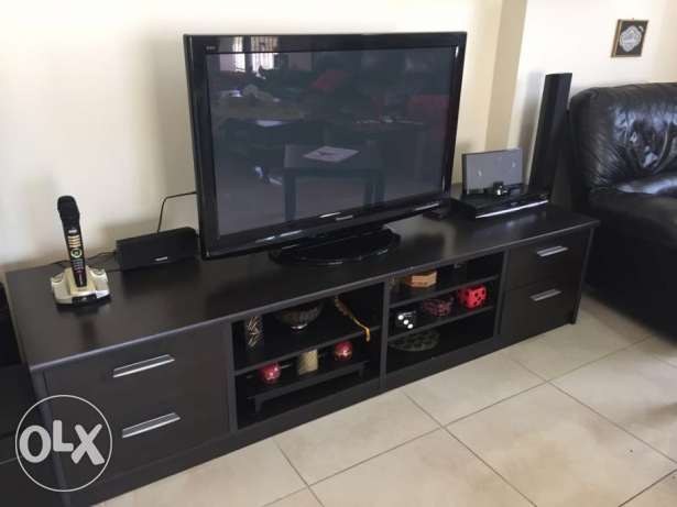 TV Cabinet + 2 Stand alone cabinets