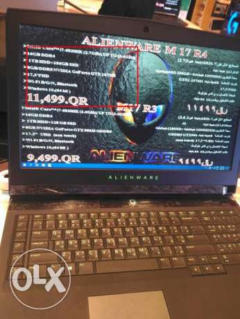 Gaming laptop Alienware 17 gtx1070 I7 ssd top of the line