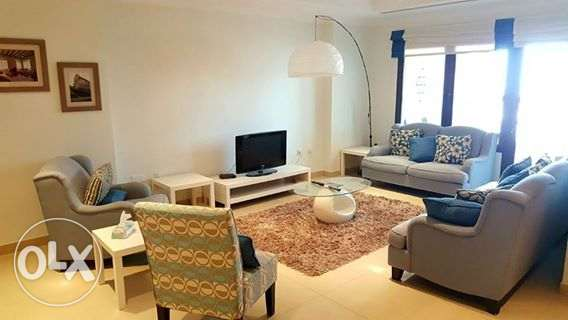 Nice fully furnished 2 bedroom apartment for rent in the pearl