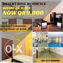 DISCOUNTED RATES- 1-3BR F/F For as low as QR 6,750/month