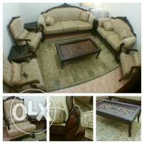 Sofa set & tea table