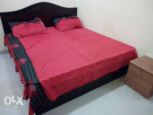 Double bed with mattress 180*190