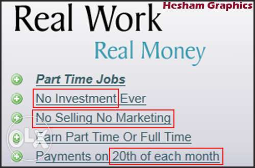 Wanted: Internet workers. Earn $1500 to 2500/month working part time o