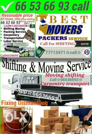 For shifting moving house, villa & office