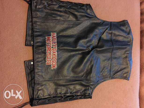 Large Harley Davidson Short Sleeve Leather Jacket الدوحة الجديدة -  3