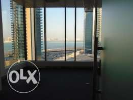 sea view office space in west bay cheap price