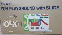 Fun playground with slide