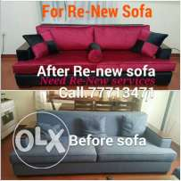 For Re-New & Repair sofa, Bed, mojlis, Daning chaire all kinds we Do