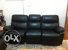New Leather Sofa Set with Recliner from Home Center for 1900 QAR Only