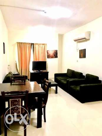 fully furnished 2 bhk at bin omran for 6800 qr