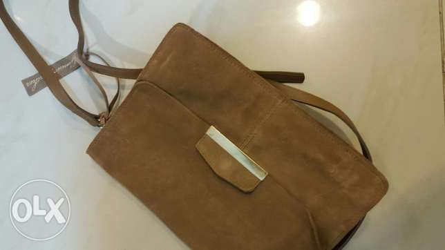 Leather bag from Mango