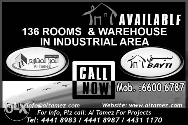 136 Rooms & Ware House in Industrial Area 43