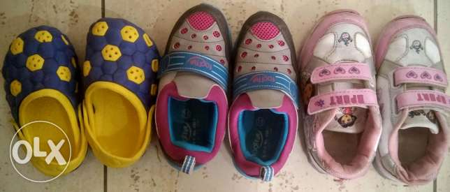Crocs and Sport shoes for kids 3 to 5 years