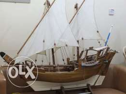 Handmade miniature antique sailing ship model