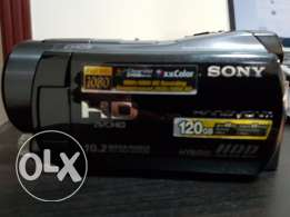 camcorder Sony with leather bag 10.2 mp and 120 hard drive