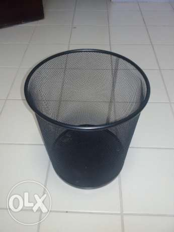 Small garbage trash waste bin basket made of steel