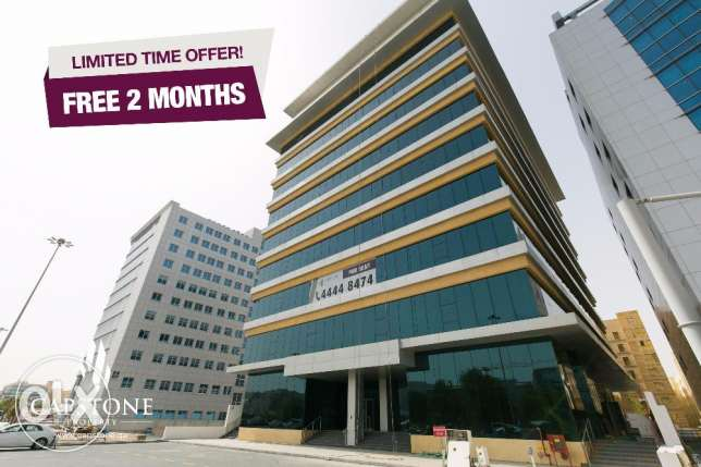 FREE 2 MONTHS RENT, New and Spacious Offices in Al Sadd