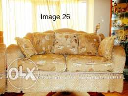 7 Seat Luxury Decorative Sofa with Cushions from Home Center