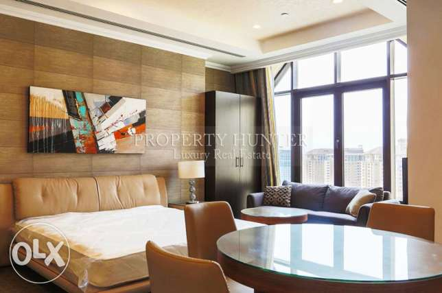 Studio furnished penthouse with pool view