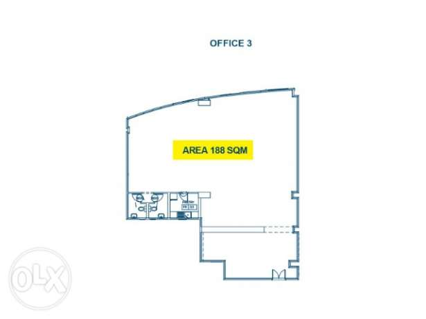 188 sqm office space for rent in Najma with 2 MONTHS GRACE PERIOD!! نجمة -  1
