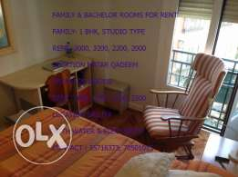best family/bachelor rooms for rent
