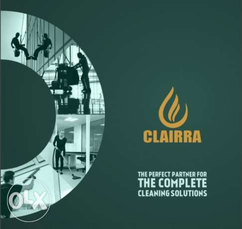 Commercial floor polishing services at CLAIRRA