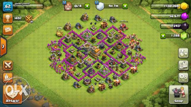 Clash of clan level 62