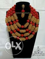 Neck beads and bracelet for sale.