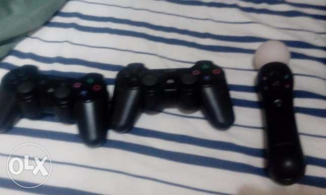 ps3 limited edition for sale -3 controllers- camera الؤلؤة -قطر -  4