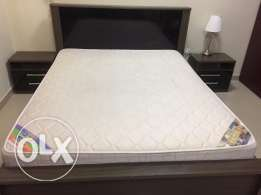 Queen Size Bed, Side Drawers, Dressing Table & Mattress