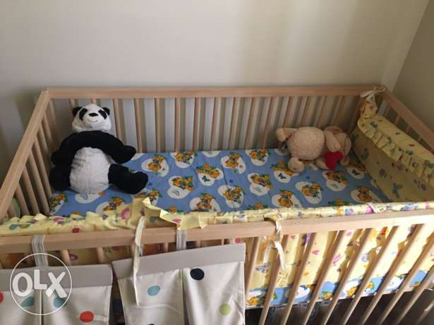 ikea baby bed with mattress new