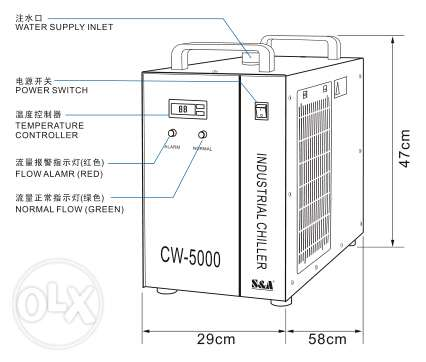 S&A industrial chiller for induction heater