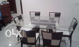 Dining Table Glass Top (6 seater)
