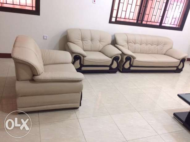 leather sofa set from home center