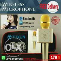 Mic with inbuilt speaker..Rechargeable