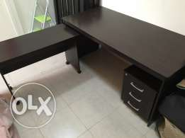 3-piece Office Set (Desk, side desk and 3-drawer cabinet)