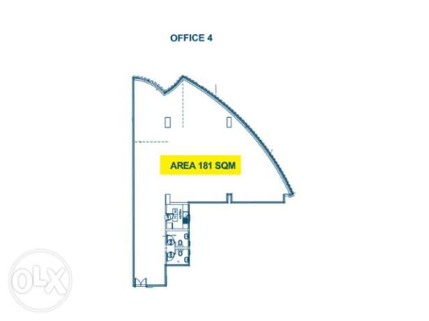 181 sqm office space for rent in Najma نجمة -  1