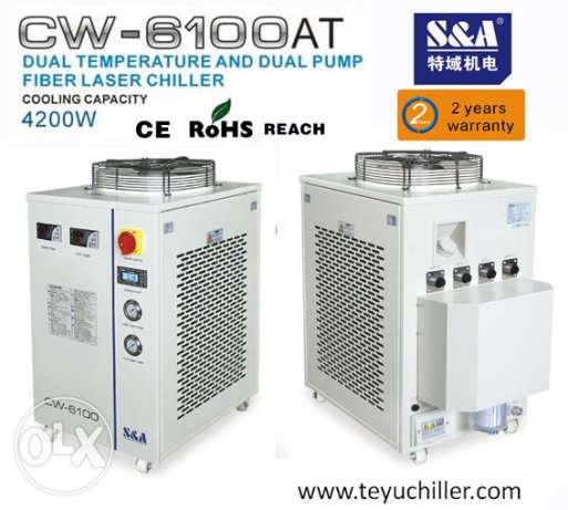 S&A recirculating chiller CW-6100AT for Raycus 500W Laser