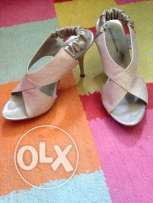 used stylish silver shoes with heels size 36 for Sale for Only 25QR