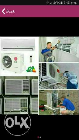 All types of Air condition,fridge,washing machine Sale and repair.