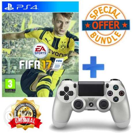 new ps4 controller and FIFA17 for sale
