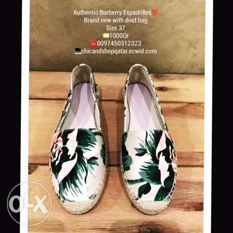 Authentic brand new Burberry espadrilles