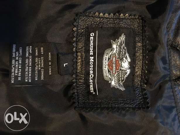 Large Harley Davidson Short Sleeve Leather Jacket الدوحة الجديدة -  1